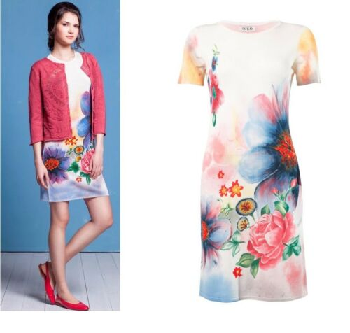 IVKO Kleid handbemalt handprinted beihe off white 51623 batik dress