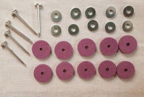 Pappscheiben, Unterlegscheiben + Splinte Gelenksatz 20 mm