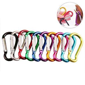 100PCS-Aluminum-Carabiner-D-Ring-Key-Chain-Clip-Snap-Hook-Karabiner-Camp-Keyring