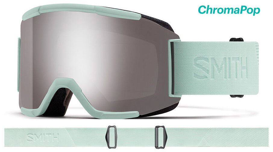 Smith Squad  Ice Flood Goggles ChromaPop Sun Platinum Mirror 2019 Ski Snowboard  outlet factory shop