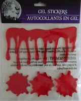 Halloween Bloody Gel Window Cling Stickers Dripping Blood (free Shipping)