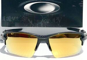 abadd15767 NEW  Oakley FLAK 2.0 Black POLARIZED PRIZM 24k Gold Midnight ...