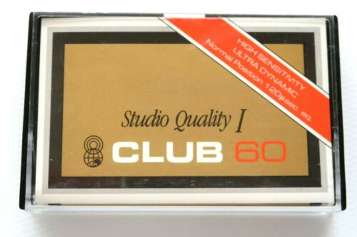CLUB 60 STUDIO QUALITY NORMAL POSITION TYPE I BLANK AUDIO CASSETTE