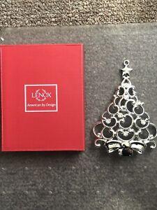 Lenox Gem Silver Plated Metal Snowflake or Christmas Tree Ornament