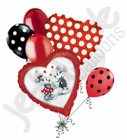 7 Pc Mickey & Minnie Mouse Love Balloon Bouquet Party Decoration Disney Birthday