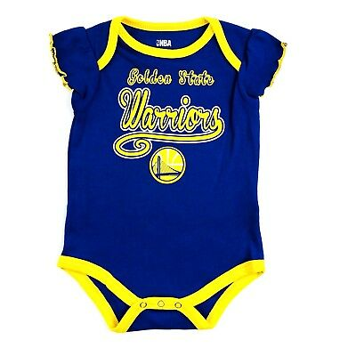 Golden State Warriors Watching With Daddy Baby Short Sleeve Bodysuit