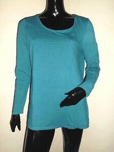 Details Sur T Shirt Sweat Femme C A Couleur Bleu Vert Canard T M L En Coton