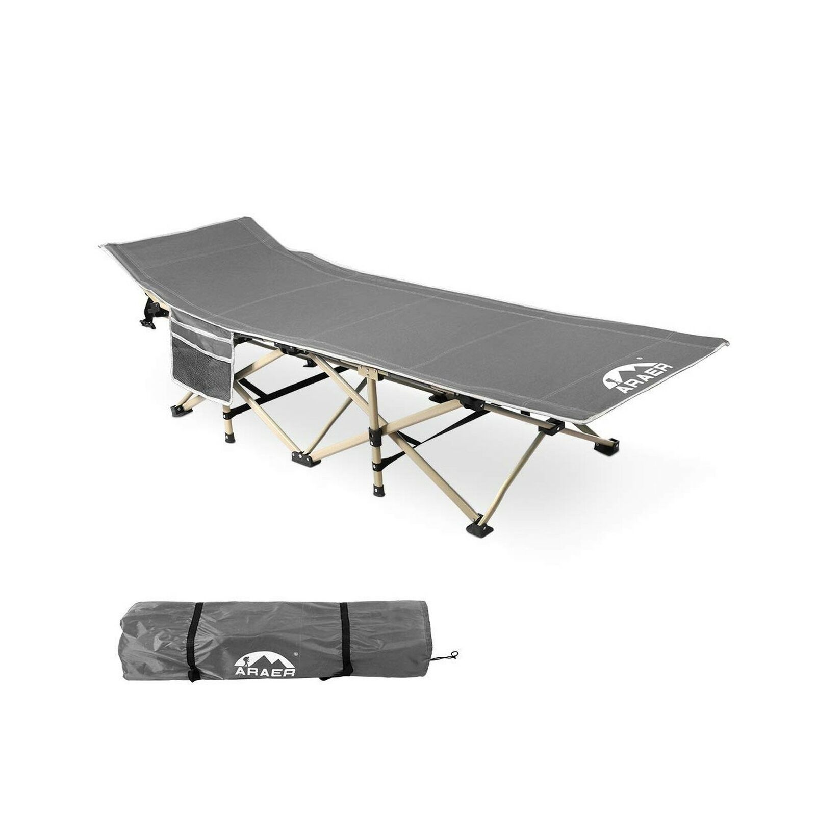 Camping Cot, 450LBSMax Load, Portable Foldable Outdoor Bed with Carry Bag f...