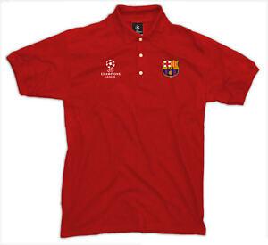 FC Barcelona Polo Shirt UEFA Champions League, Barca Polo, Herren, rot