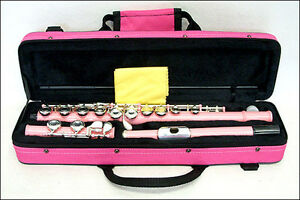 GREAT-GIFT-Light-Pink-Closed-Hole-Flute-with-Pink-Carrying-Case-CLEARANCE