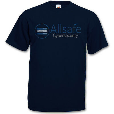 ALLSAFE CYBERSECURITY T-SHIRT - fsociety Hacker TV Evil E Corp Mr. Robot T Shirt