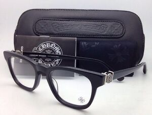 9d3d413828be New CHROME HEARTS Eyeglasses LOUVIN CUP BK 48-19 Black Frames w ...