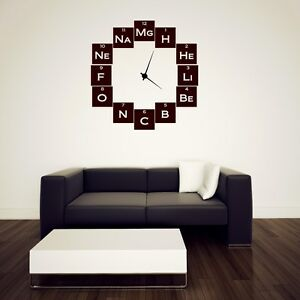 Chemistry Geeks Wall Sticker Clock Background Wall Stickers Many