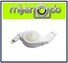 Innowatt Retractable USB Lightning Cable (White) for iPhone iPad iPod