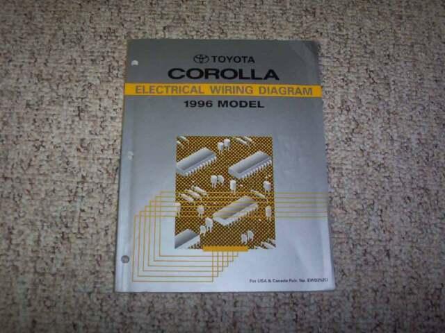 1996 Toyota Corolla Electrical Wiring Diagram Manual Dx