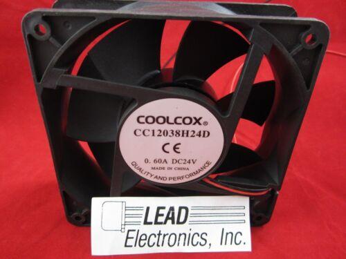 BRAND NEW COOL-COX CC12038H24D-2-WIRE 24-VOLT//DC 120MM X 38MM