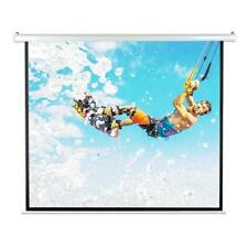 """Pyle PRJELMT86 84"""" Motorized Projector Screen, Includes Remote Control - White"""