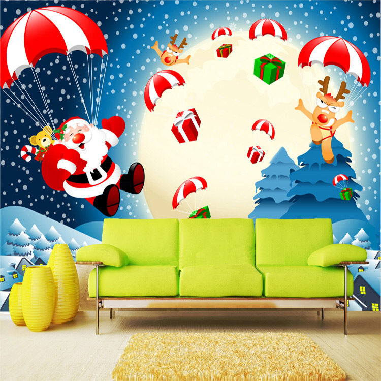 3D Cute Santa Claus 564 WallPaper Murals Wall Print Decal Wall Deco AJ WALLPAPER