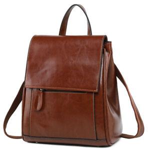 Women-Genuine-Leather-Backpack-Handbag-Shoulder-Bag-Crossbody-Hobo-2877