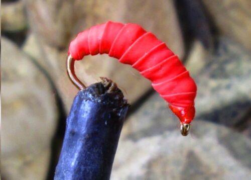 GILCHRIST FLIEGEN Larven Nymphen.3 Stück von einer Farbe /& Größe