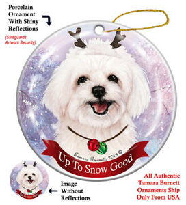 Maltipoo Dog Christmas Holiday Ornament Up To Snow Good | eBay