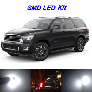 Details About 16 X Ultra White Led Interior Kit Reverse Light For 2018 2019 Toyota Sequoia