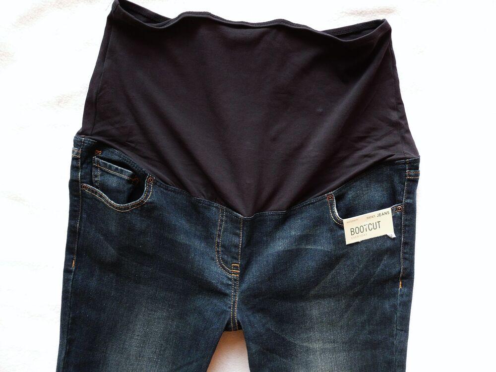 Bnwt Next New Maternité Bleu Foncé Indigo Bootcut Stretch Jeans Taille 10 R