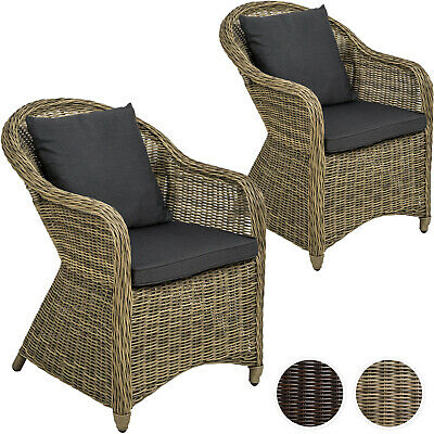 2x Aluminium chaise de jardin salon fauteuil siège en style osier poly rotin | eBay