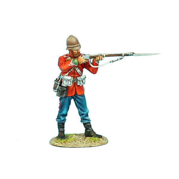FIRST LEGION Zulu War ZUL012 British 24th Foot Standing Firing Painted Metal