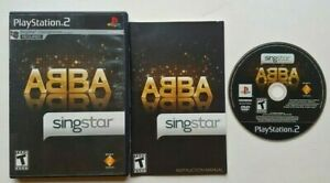 SingStar ABBA PlayStation 2 PS2 Complete Game Works Tested -Very Good
