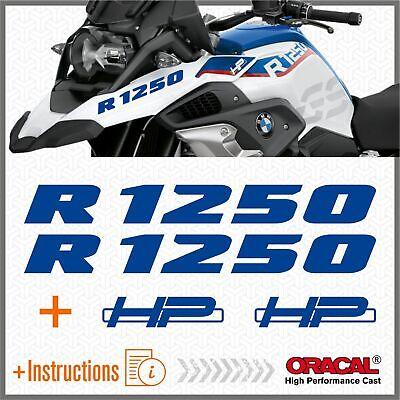 Black Doves Graphics 2pcs Aufkleber R1250 kompatibel f/ür Motorrad BMW R1250 GS R 1250 HP Adventure Blue