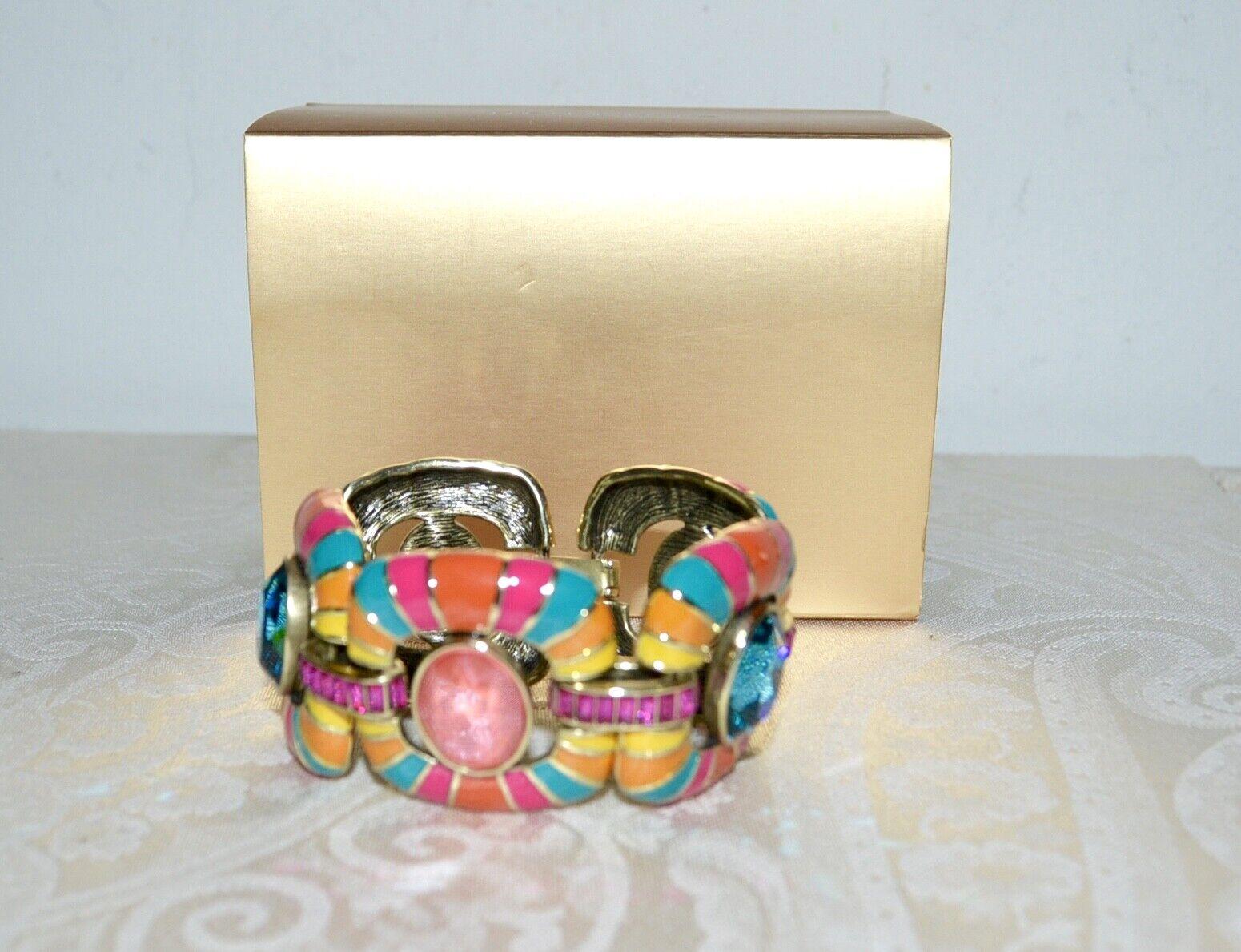 New  240 HEIDI DAUS  Park Avenue South  Link Bracelet Enamel Crystals