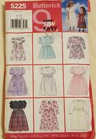 Simplicity Pattern 5225 Girls Dresses 9 Styles Sizes 6-8 Free Shipping