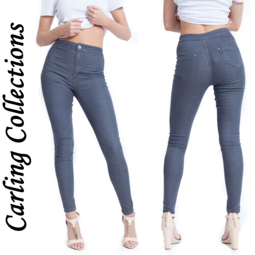 Women/'s Ladies Skinny High Waisted Comfort Classic Fit Jean Stretch Denim Pants