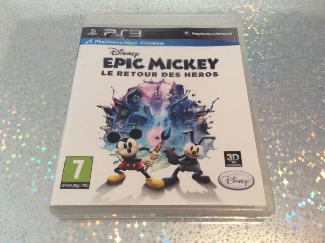 PS3 Disney Epic Mickey Le Retour Des Heros 3D PLAYSTATION 3 SONY PAL FR COMPLET