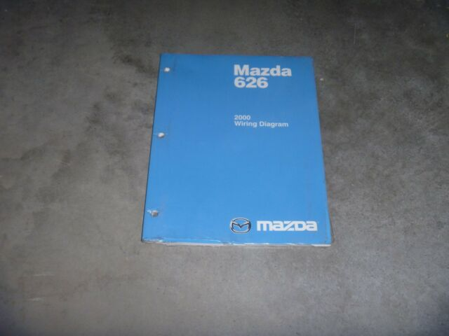 2000 Mazda 626 Sedan Electrical Wiring Diagram Manual Lx