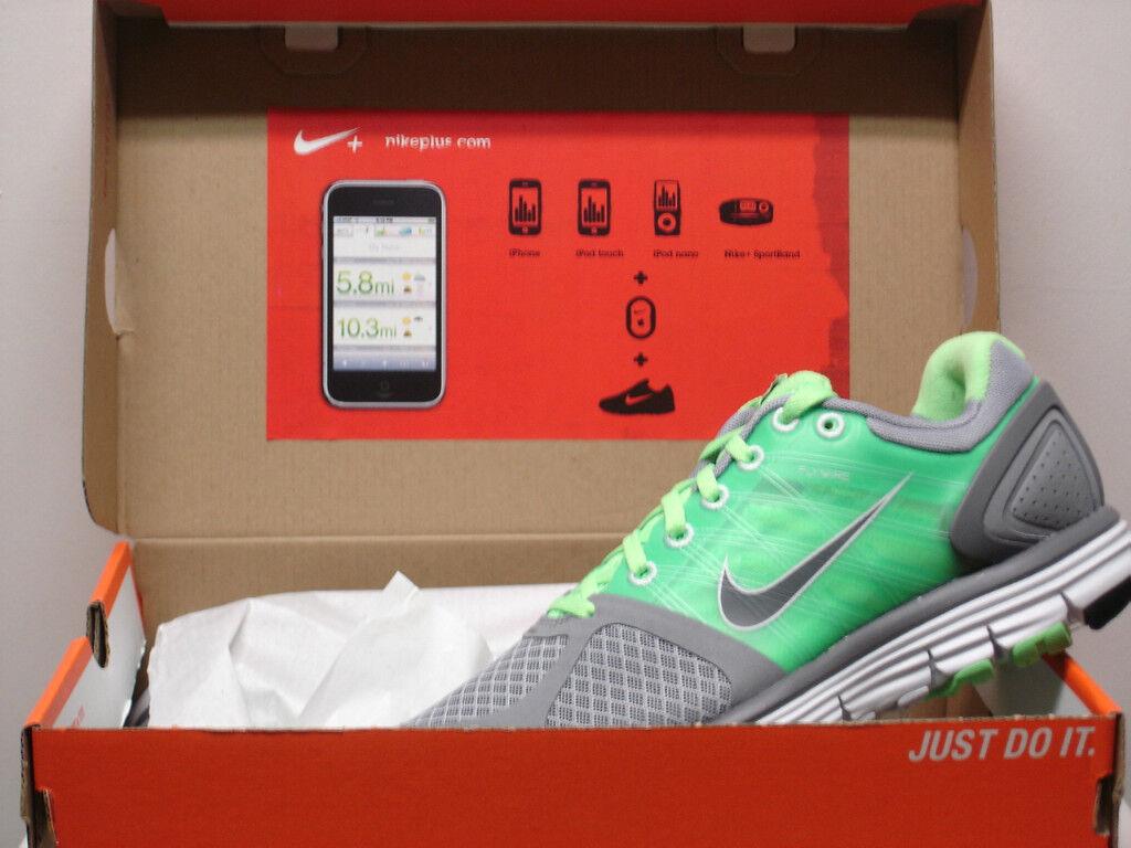 Damen Nike Lunarglide + 2 Grau Laufschuhe Laufschuhe Laufschuhe Ipod Neu d37f1f