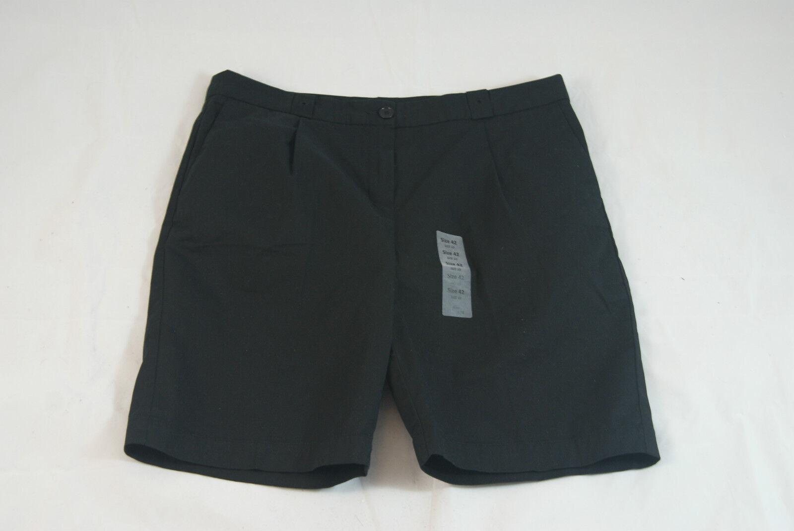 b1f7067f30 Lacoste Women's Black Stretch Cotton Bermuda Walking Shorts Size 6 EU 38  Resort