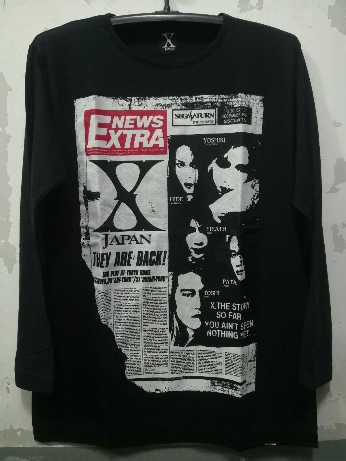 NOS Vintage X-JAPAN 1994 Official Tokyo Dome Hide Yoshiki Jrock T-Shirt