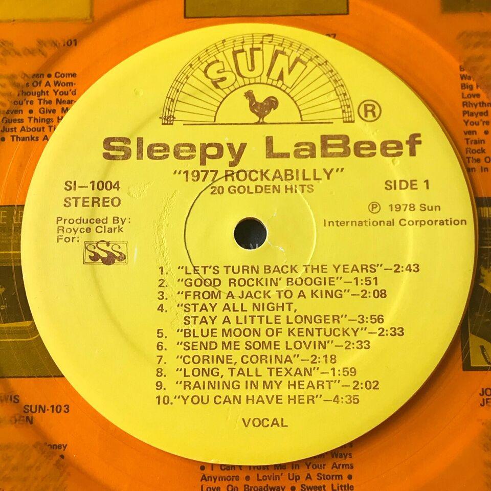 LP, Sleepy LaBeef, 1977 Rockabilly