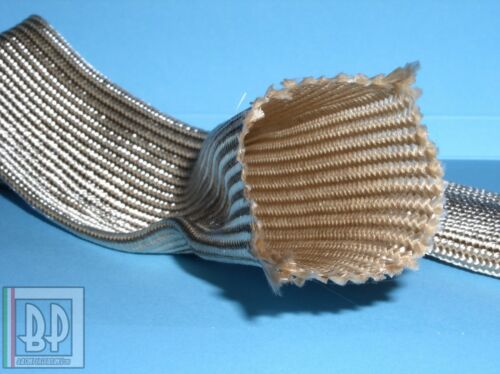 "GUAINA ISOLANTE 450° C FIBRA VETRO ARGENTO /""BLOCCATA/"" diametro 10 mm"