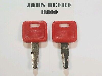 4pcs H800  Ignition Start Keys for John Deere JD Hitachi Case New Holland NH