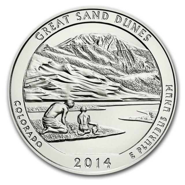 2014 5 oz Silver ATB Great Sand Dunes National Park, CO - SKU #80982