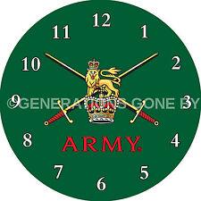 TERRITORAL ARMY GLASS WALL CLOCK