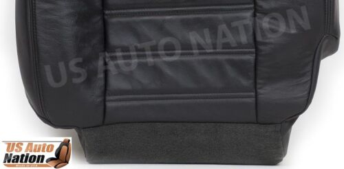 2003-2004 Hummer H2 AWD Driver Side Bottom Replacement Leather Seat Cover Black