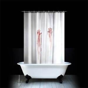 Bloody Bath Shower Curtain by Spinning Hat Scary Psycho Horror Halloween
