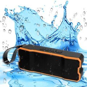 Waterproof Portable Bluetooth Wireless Outdoor Speaker Strong Bass 3.5mm AUX SD