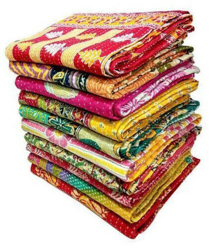 Wholesale Lot kantha quilt Vintage Bedspreads Throw Cotton Reversible Blanket