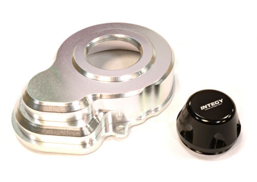 RC Car C25606SILVER Machined Gearbox Spur Gear Cover for Axial SCX-10 /& Wraith