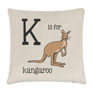 Letter N Is For Narwhal Linen Cushion Cover Pillow Alphabet